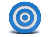 3d blue target. Illustration of 3d blue darts target  on white back Stock Photos