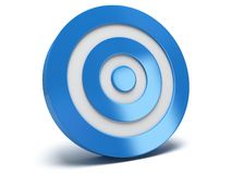 3d blue target. Illustration of 3d blue darts target  on white back Royalty Free Stock Photo