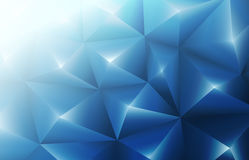 3d blue triangles background. 3d blue triangles modern background Royalty Free Stock Photo