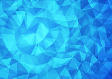 3d blue triangular background. 3d blue triangular geometric background. Vector illustration Royalty Free Stock Images