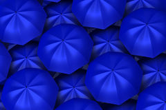 Blue umbrellas background Royalty Free Stock Photo