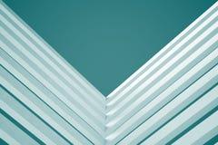 3d blue White Modern Building Concept background. 3d White Modern Building Concept Royalty Free Stock Images