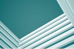 3d blue White Modern Building Concept background. 3d White Modern Building Concept Royalty Free Stock Photo