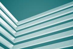 3d blue White Modern Building Concept background. 3d White Modern Building Concept Stock Photo