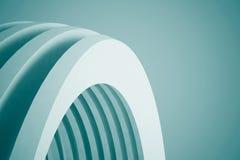 3d blue White Modern Building Concept background. 3d White Modern Building Concept Stock Images