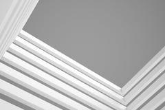 3d blue White Modern Building Concept background. 3d White Modern Building Concept Stock Image