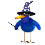 3d Bluebird magician Stock Images