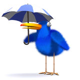 3d Bluebird umbrella Stock Photography