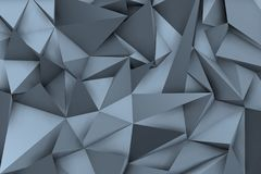 3d bluish background with shadows and triangular shapes. For modern environment Royalty Free Stock Photography