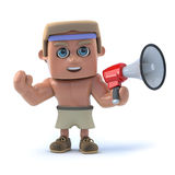 3d Bodybuilder using a megaphone Stock Images
