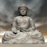 3D Boedha - geef terug Stock Illustratie