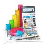 3d boekhoudingsconcept Royalty-vrije Stock Afbeeldingen