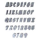 3D bokstäver/alfabet/nummer Royaltyfria Foton