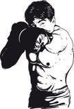 3 d boksu człowiek abstrakcyjne model Obraz Royalty Free
