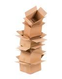 3d boksuje karton wytwarzającego wizerunek Obrazy Stock