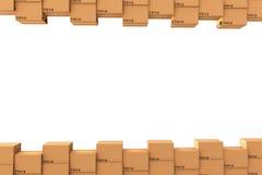 3d boksuje karton wytwarzającego wizerunek ilustracja wektor