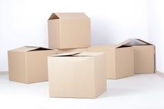 3d boksuje karton wytwarzającego wizerunek Fotografia Stock