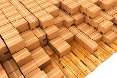 3d boksuje karton wytwarzającego wizerunek Zdjęcie Stock