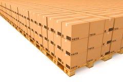 3d boksuje karton wytwarzającego wizerunek Obraz Stock