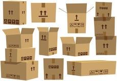 3d boksuje karton wytwarzającego wizerunek Zdjęcia Stock