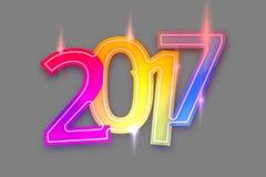 2017 3D bold colorfull font design. Graphic illustration design Royalty Free Stock Image