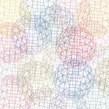 3D, bollen met in kaart gebrachte banden op hen, in decoratieve kleuren Royalty-vrije Stock Afbeeldingen