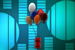 3d  bomb balloon illustration Stock Image