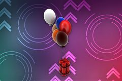 3d  bomb balloon illustration Royalty Free Stock Photos
