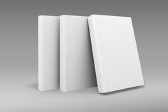 3d book with blank covers. On gray background Royalty Free Stock Photography