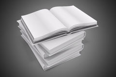 3d book with blank covers. On gray background Stock Photography