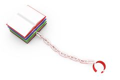 3d book chain concept Royalty Free Stock Photography