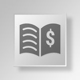 3D Book Of Commerce icon Business Concept Royalty Free Stock Image