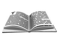 3d book. 3d opened book Royalty Free Stock Photo