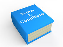 3d book of terms and conditions Stock Photo