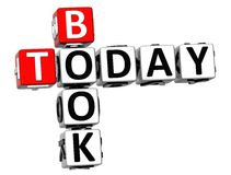 3D Book Today Crossword. On white background Stock Photos