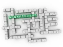 3d Bookkeeping Concept word cloud. 3d Bookkeeping issues concept word cloud background Royalty Free Stock Image