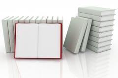 3d books. On background white Stock Photos