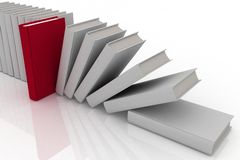 3d books. On background white Stock Image