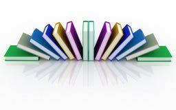 3d books. On background white Royalty Free Stock Photos