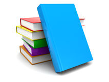 3d books. 3d illustration of books stack over white background Stock Photos
