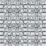 3d books on shelf. 3d books on white  shelves Stock Photos