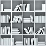 3d books on shelf Royalty Free Stock Photos