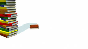 3d Books stacked vector illustration