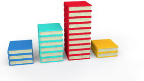 3d books stacking up stock video footage