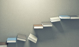 3d books stair Stock Photography