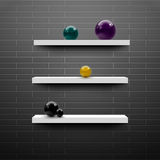 3d bookshelf design vector. 3d bookshelf design - vector eps 10 Royalty Free Stock Photography