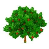 3d boom van de voxelappel Royalty-vrije Stock Foto