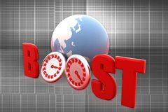 3d boosting web traffic illustration Royalty Free Stock Image