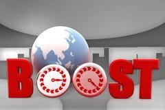 3d  boosting web traffic Royalty Free Stock Photo