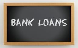3d bord met Bankleningentekst stock illustratie